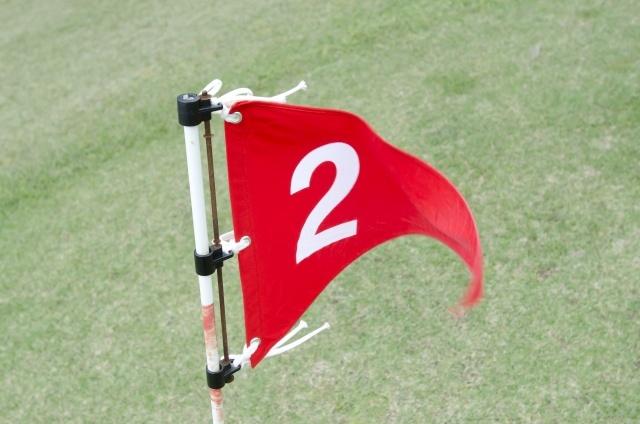 「2」の番号が書かれたフラッグの画像