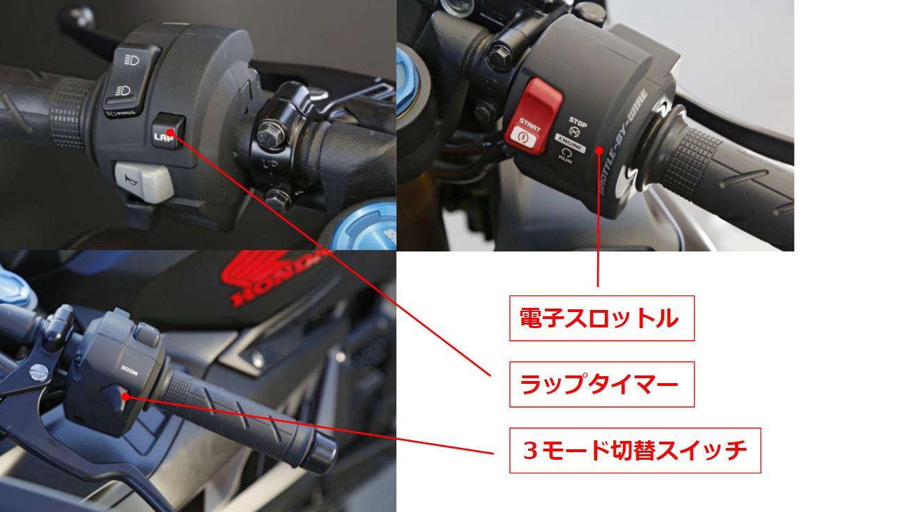 新型CBR250RRのハンドル周りの詳細